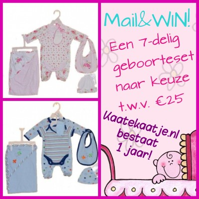 Mail & win 7-delige geboorte set!